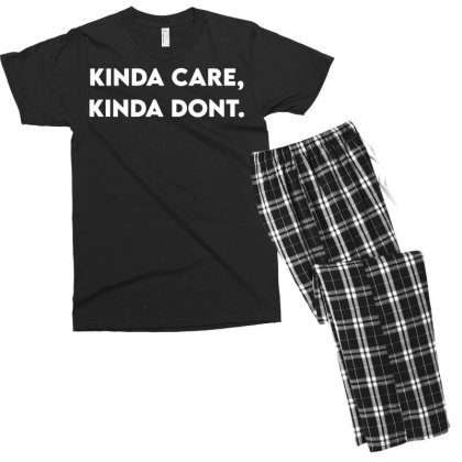 Kinda Care, Kind Don't Men's T-shirt Pajama Set Designed By G3ry