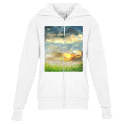 Beyond The Truth And Lies Youth Zipper Hoodie Designed By Sufiyan67