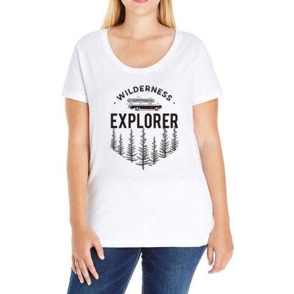 Wildness Explorer Ladies Curvy T-shirt Designed By Sb T-shirts