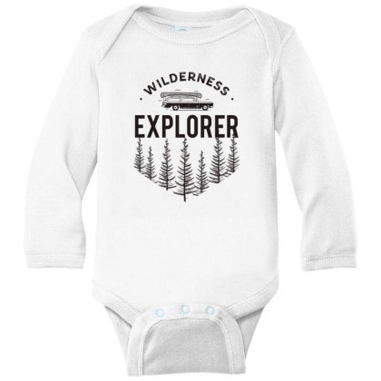 Wildness Explorer Long Sleeve Baby Bodysuit Designed By Sb T-shirts