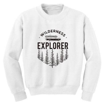 Wildness Explorer Youth Sweatshirt Designed By Sb T-shirts