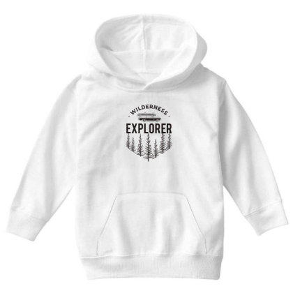 Wildness Explorer Youth Hoodie Designed By Sb T-shirts
