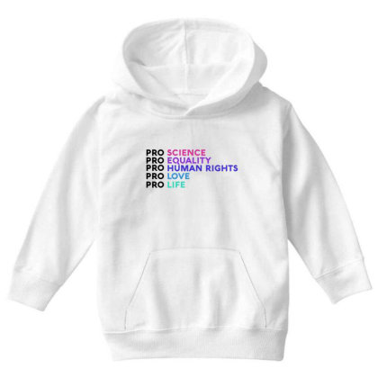 Pro Equality Youth Hoodie Designed By Cloudystars