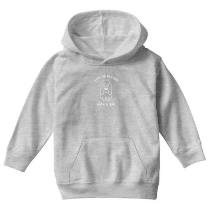 Life Is Better With A Dog Youth Hoodie Designed By Fashionnetwork