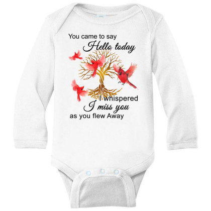 Birds Gold You Came To Say Hello Today I Whispered I Miss You As You F Long Sleeve Baby Bodysuit Designed By Hoainv