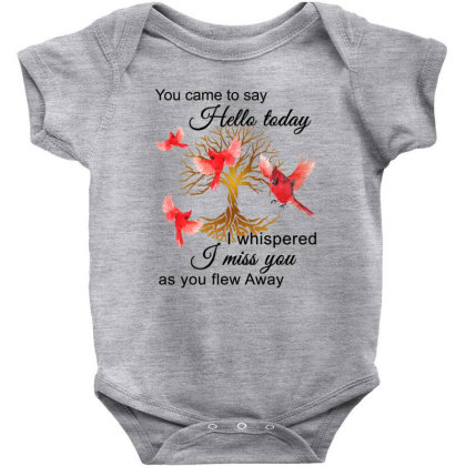 Birds Gold You Came To Say Hello Today I Whispered I Miss You As You F Baby Bodysuit Designed By Hoainv