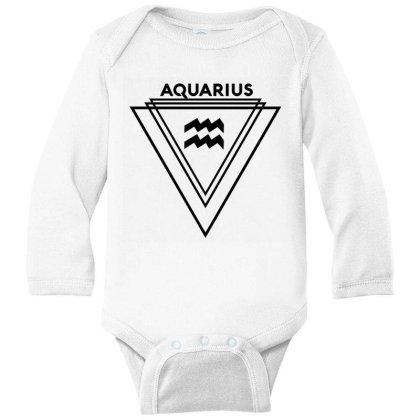 Aquarius Zodiac Long Sleeve Baby Bodysuit Designed By Cloudystars