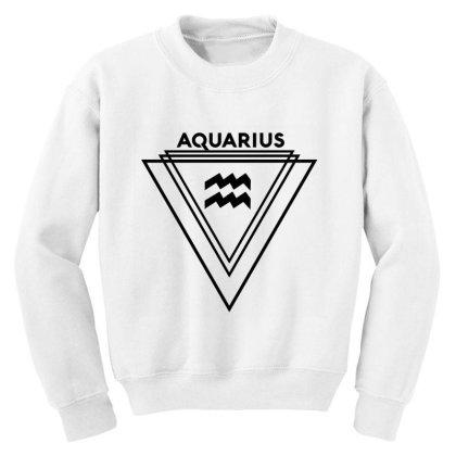 Aquarius Zodiac Youth Sweatshirt Designed By Cloudystars