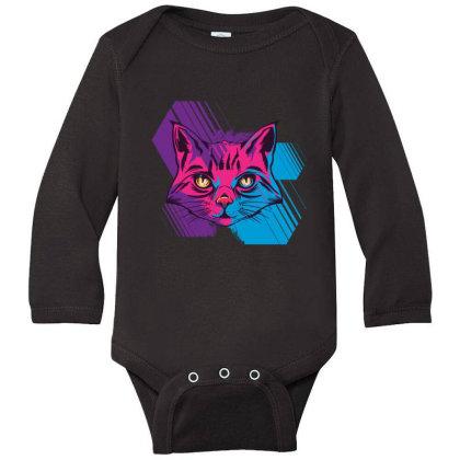 Cat Long Sleeve Baby Bodysuit Designed By Bakari10