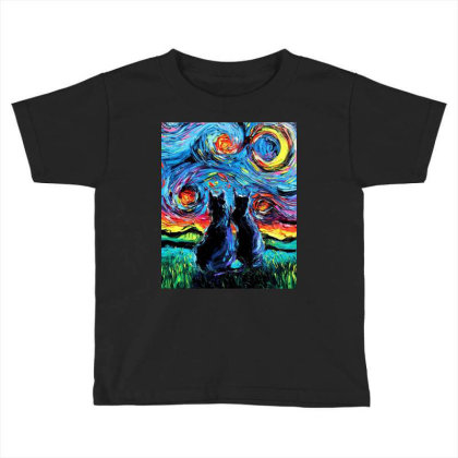 Van Gogh's Cats Toddler T-shirt Designed By Star Store