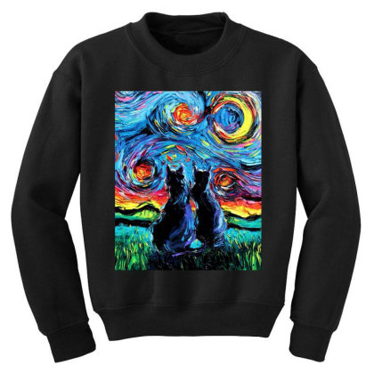 Van Gogh's Cats Youth Sweatshirt Designed By Star Store