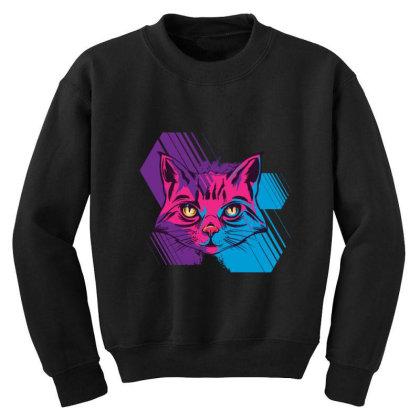 Cat Youth Sweatshirt Designed By Bakari10