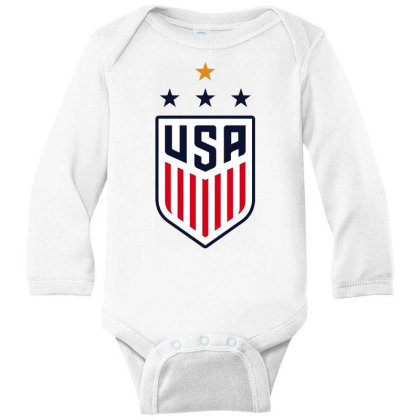 Uswnt Long Sleeve Baby Bodysuit Designed By Star Store