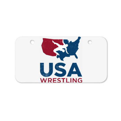 Usa Wrestling Vintage Bicycle License Plate Designed By Star Store