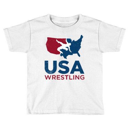 Usa Wrestling Vintage Toddler T-shirt Designed By Star Store