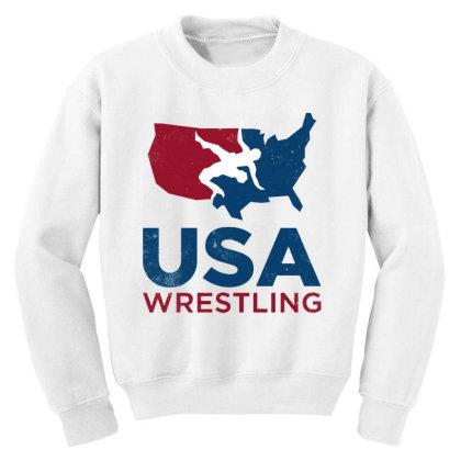Usa Wrestling Vintage Youth Sweatshirt Designed By Star Store