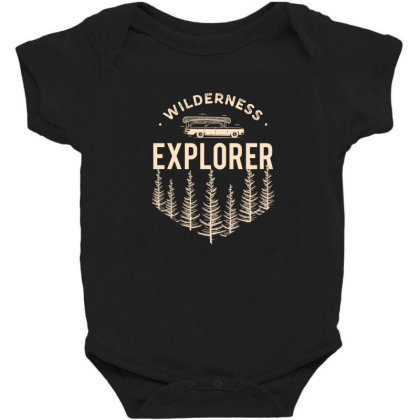 Wildness Explorer Baby Bodysuit Designed By Sb T-shirts