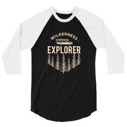 Wildness Explorer 3/4 Sleeve Shirt   Artistshot