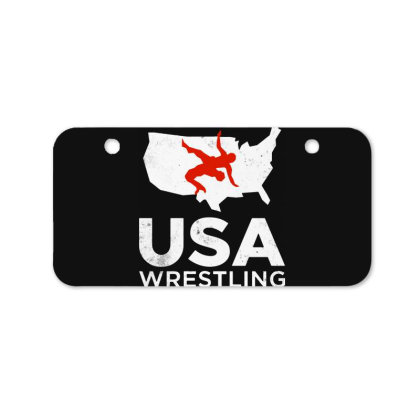 Usa Wrestling Vintage Light Bicycle License Plate Designed By Star Store
