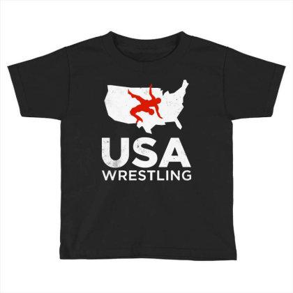 Usa Wrestling Vintage Light Toddler T-shirt Designed By Star Store