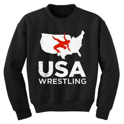 Usa Wrestling Vintage Light Youth Sweatshirt Designed By Star Store