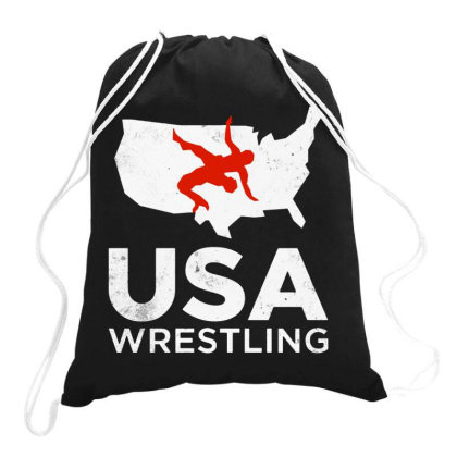 Usa Wrestling Vintage Light Drawstring Bags Designed By Star Store