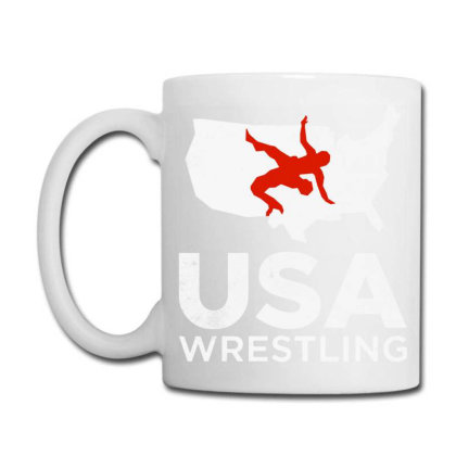 Usa Wrestling Vintage Light Coffee Mug Designed By Star Store