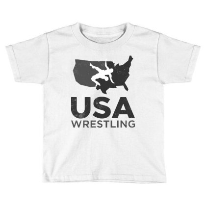 Usa Wrestling Vintage Dark Toddler T-shirt Designed By Star Store