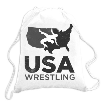 Usa Wrestling Vintage Dark Drawstring Bags Designed By Star Store