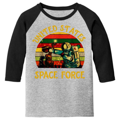 United States Space Force Vintage Youth 3/4 Sleeve Designed By Star Store