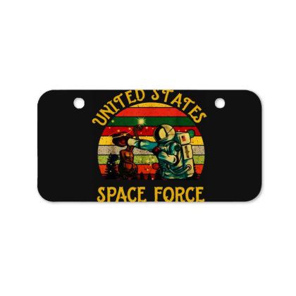 United States Space Force Vintage Bicycle License Plate Designed By Star Store
