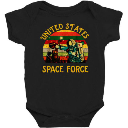 United States Space Force Vintage Baby Bodysuit Designed By Star Store