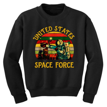 United States Space Force Vintage Youth Sweatshirt Designed By Star Store