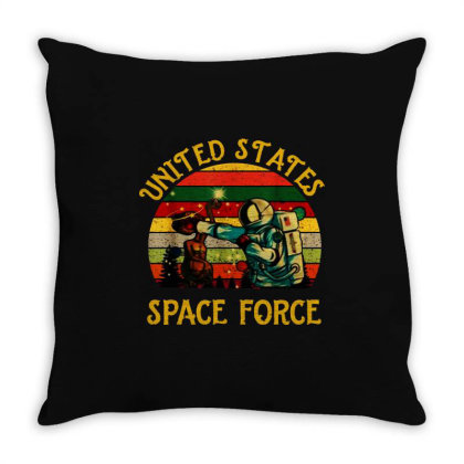 United States Space Force Vintage Throw Pillow Designed By Star Store