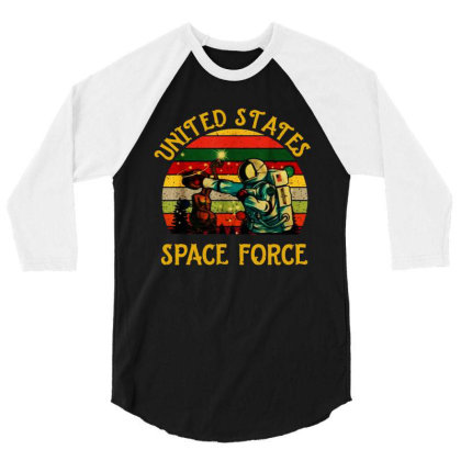 United States Space Force Vintage 3/4 Sleeve Shirt Designed By Star Store