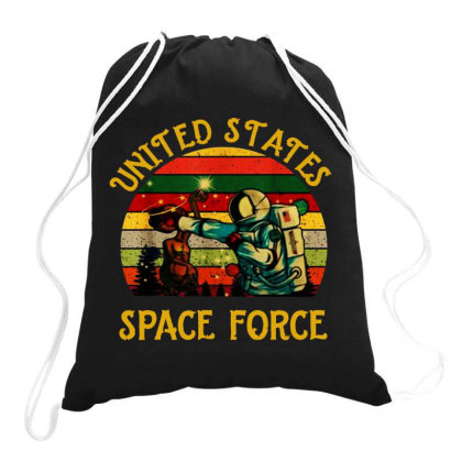 United States Space Force Vintage Drawstring Bags Designed By Star Store