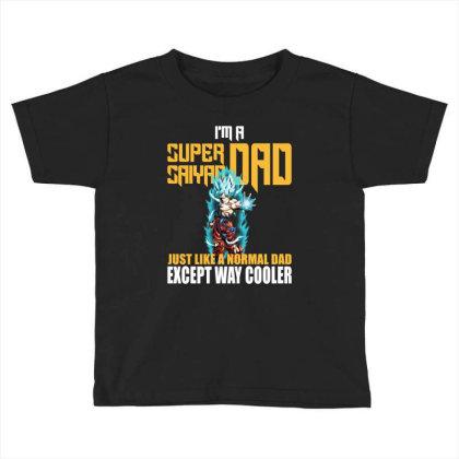 Dragon Ball Super Saiyan Dad Toddler T-shirt Designed By Viral Style
