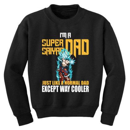 Dragon Ball Super Saiyan Dad Youth Sweatshirt Designed By Viral Style