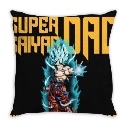 Dragon Ball Super Saiyan Dad Throw Pillow Designed By Viral Style