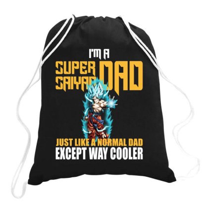 Dragon Ball Super Saiyan Dad Drawstring Bags Designed By Viral Style