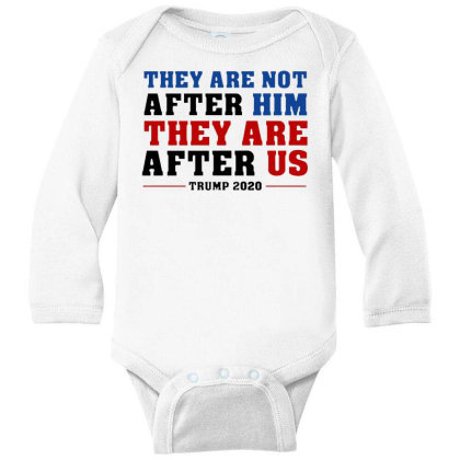 They Are Not After Me Impeachment Trump Long Sleeve Baby Bodysuit Designed By Star Store