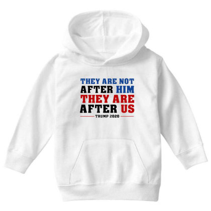 They Are Not After Me Impeachment Trump Youth Hoodie Designed By Star Store