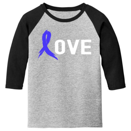 Love - Colon Cancer Youth 3/4 Sleeve Designed By Viral Style