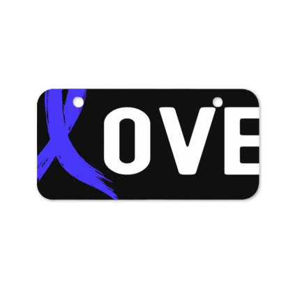 Love - Colon Cancer Bicycle License Plate Designed By Viral Style