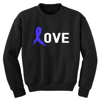 Love - Colon Cancer Youth Sweatshirt Designed By Viral Style
