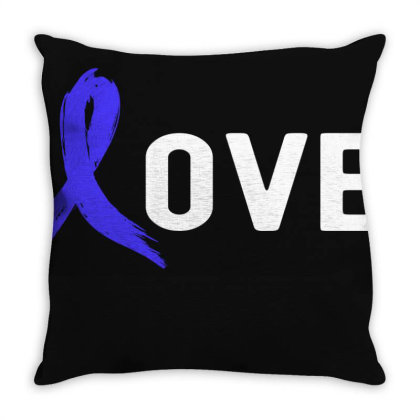 Love - Colon Cancer Throw Pillow Designed By Viral Style