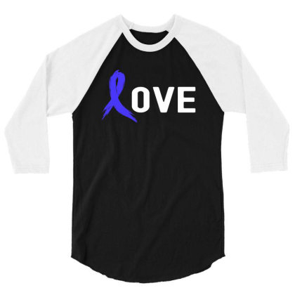 Love - Colon Cancer 3/4 Sleeve Shirt Designed By Viral Style