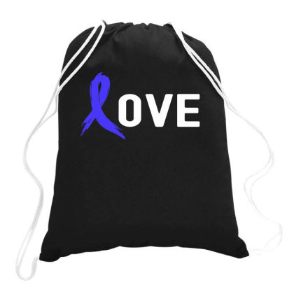 Love - Colon Cancer Drawstring Bags Designed By Viral Style