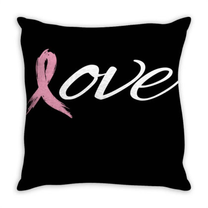 Breast Cancer Awareness Throw Pillow Designed By Black Box