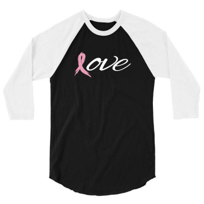 Breast Cancer Awareness 3/4 Sleeve Shirt Designed By Black Box
